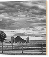 Clouds Over The Upper Midwest Wood Print