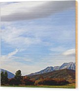 Clouds Over Timp Wood Print