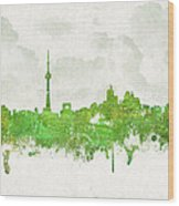 Clouds Over Toronto Canada Wood Print
