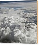 Clouds Over Wyoming Wood Print