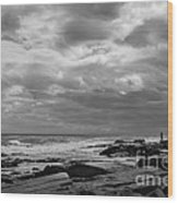 Clouds Rolling In Wood Print by Diane Diederich