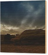 Clouds Scape Wood Print