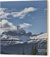 Clouds Sky Mountains Wood Print