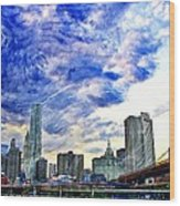 Clouds Van Gogh Wood Print