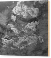 Angry Clouds Wood Print