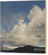 Clouds With Arms Wood Print