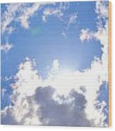 Clouds With Sunshine Wood Print