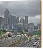 Cloudy Atlanta Capital Of The South Wood Print