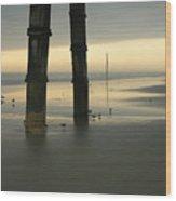 Cloudy Dawn 2  3-15-15 Wood Print