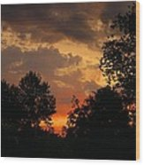 Cloudy Dawn Wood Print