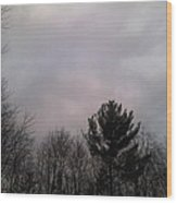 Cloudy Day Wood Print