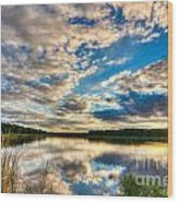 Cloudy Evening Wood Print
