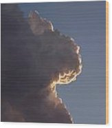 Cloudy Face Wood Print