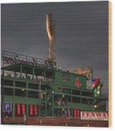 Cloudy Fenway Park - Boston Wood Print