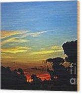 Cloudy Morning In Fort Lauderadale Wood Print