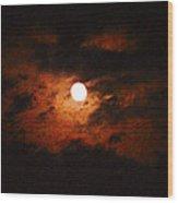 Cloudy Night Sky Wood Print