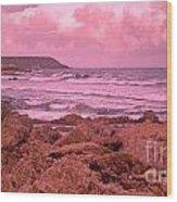 Cloudy Sea Wood Print