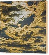 Cloudy Sky Over Calvary Cemetery Wood Print