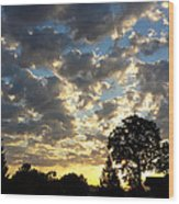 Cloudy Sunrise Wood Print by James Hammen
