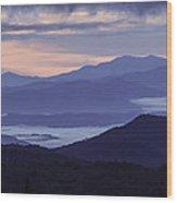 Cloudy Sunrise Wood Print