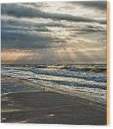 Cloudy Sunrise Wood Print by Michael Thomas