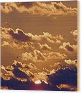 Key West Cloudy Sunset Wood Print