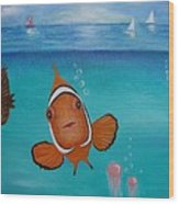 Clown Fish And Friends Wood Print