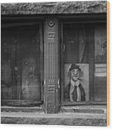 Clown In The Window Wood Print