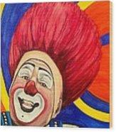 Watercolor Clown #17 Mark Carfora Wood Print