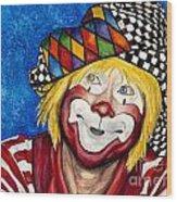 Watercolor Clown #16 Ron Maslanka Wood Print