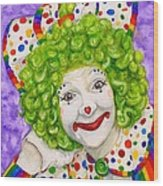 Watercolor Clown #12 Sue Marranconi Wood Print