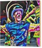 Clowned Blue Wood Print