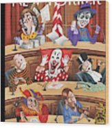 Fun And Games In Congress Wood Print