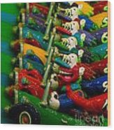 Clowns In Cars Amusement Park Game Wood Print by Amy Cicconi