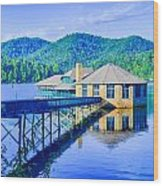 Clubhouse On Lake Tahoma Wood Print