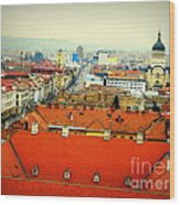 Cluj From Above Wood Print
