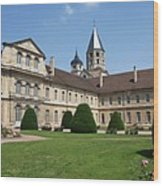 Cluny Abbey - Burgundy Wood Print