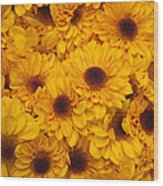 Cluster Of Yellow Blooms Wood Print