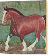 Clydesdale Wood Print