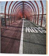 Clydeside Walkway Wood Print by John Farnan