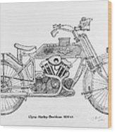 Clyno-harley-davidson Wood Print