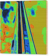 Cn Tower Abstract Wood Print