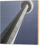Cn Tower Wood Print by Joana Kruse