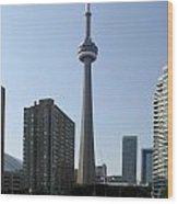 C N Tower Toronto Wood Print