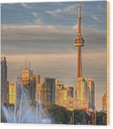 Cn Tower Toronto Wood Print