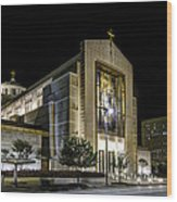 Co-cathedral Of The Sacred Heart Wood Print