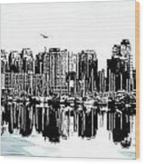 Vancouver Canada Coal Harbour Centre Panel Wood Print