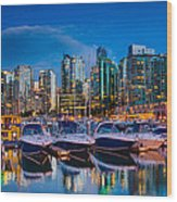 Coal Harbour Wood Print by Ian Stotesbury