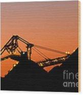 Coal Loader Wood Print