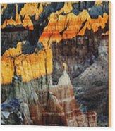 Coal Mine Canyon Aglow Wood Print